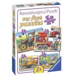 Primul meu puzzle utilaje agricole, 2/4/6/8 piese - Ravensburger
