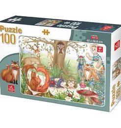 Puzzle 100: Animale din padure