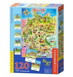 Puzzle 100 Educativ. Deutschlandkarte