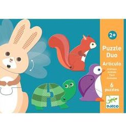 Puzzle duo articulo animals djeco