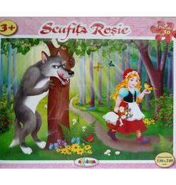 Puzzle - Scufita Rosie (30 de piese) 3 ani+