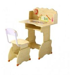 Set birou copii natur - Unic Spot Ro