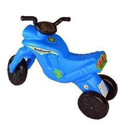 Tricicleta fara pedale albastra