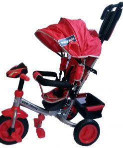 Tricicleta multifunctionala cu sunete si lumini Lux Trike Red