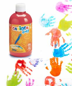 Vopsea Tempera Lavabila Carioca Baby Finger Paint 2+, 500ml