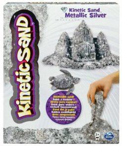 Nisip kinetic - Metale si minerale stralucitoare, argintiu