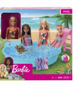 Set papusa Barbie cu piscina