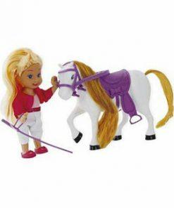 Papusa blonda cu ponei City Life, 10.5 cm