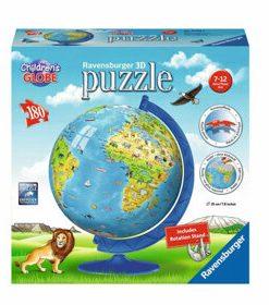 Puzzle 3D - Globul lumii, 180 piese