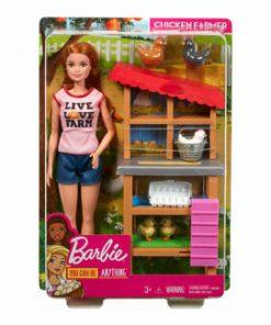 Barbie, cariere - set mobilier cu papusa la ferma