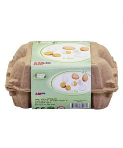 Cofraj 6 oua de jucarie, din lemn, MamaMemo