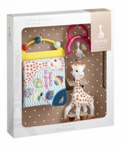 Vulli - Set cadou Girafa Sophie cu zornaitoare si carticica pentru activitati