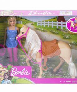 Papusa Barbie cu cal