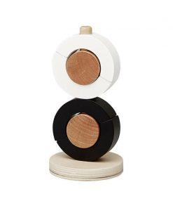 Jucarie educativa stivuit si sortat 10x18 cm din lemn FSC, model cercuri, +1 ani, byAstrup
