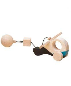 Jucarie din lemn elicopter, colorat, pentru carusel / centru de activitati, Mobbli