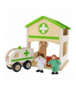 Spital de jucarie, din lemn, +3 ani, Masterkidz, pentru gradinite