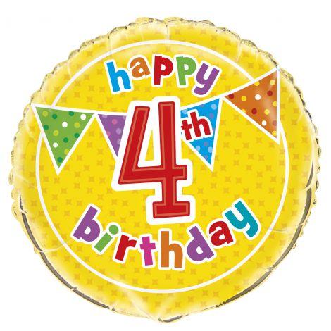 Balon folie 4th birthday 45 cm