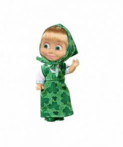 Papusa Masha in rochita verde