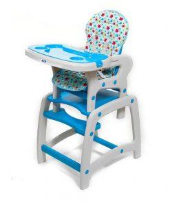 Scaun de masa copii JUJU Eat&Play JU3002-Blue-Stars (Albastru)