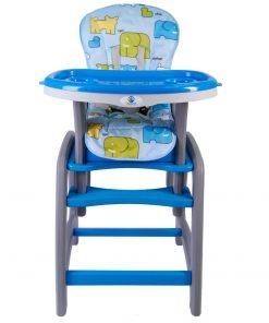 Scaun de masa multifunctional albastru Kidscare