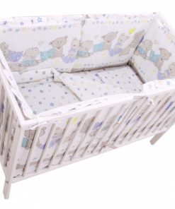 Lenjerie Teddy Love Stars 4+1 piese 120x60 cu Laterale Inalte
