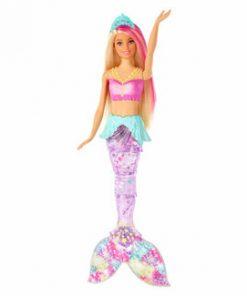 Papusa Barbie Dreamtopia - Sirena curcubeu cu lumini si sunete