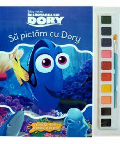 Sa pictam cu Dory. Carte de colorat cu pensula si acuarele/***