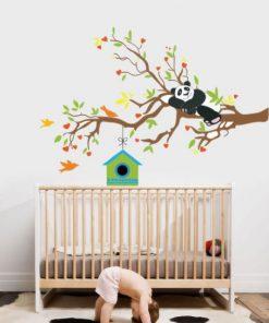 Sticker decorativ Panda - 130 x 84 cm