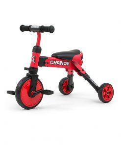 Tricicleta pliabila, transformabila in Bicicleta fara pedale, Grande RED