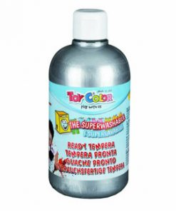 Tempera superlavabila Toy Color, 500 ml, argintiu