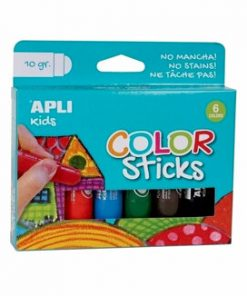 Tempera solida colorata Alpi, 10 g, 6 culori asortate
