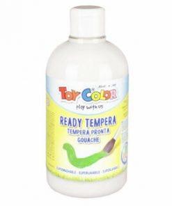 Tempera superlavabila Toy Color, 250 ml, alb