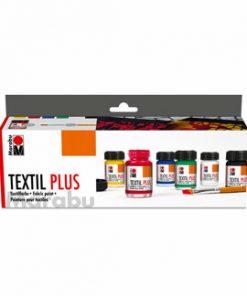 Set Culori Textile Plus, Marabu, 6 x 15 ml