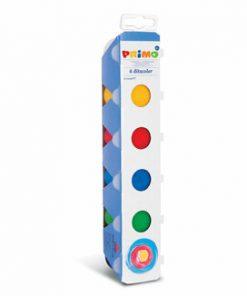 Tempera pentru pictat cu degetele Morocolor Primo, 6 culori, 25 ml