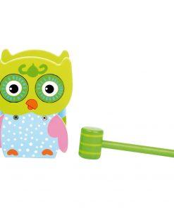 Jucărie motrică din lemn Legler Hammer Bench Owl