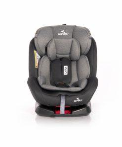 Scaun auto cu isofix Lyra rotativ 360 grade 0-36 kg Black Grey