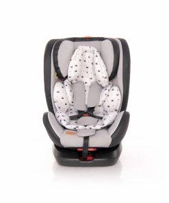 Scaun auto cu isofix Nebula rotativ 360 grade 0-36 kg grey crowns