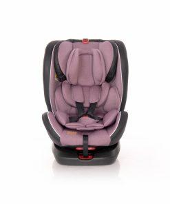 Scaun auto cu isofix Nebula rotativ 360 grade 0-36 kg pink
