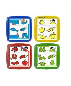 Set de 4 puzzle educative, 6 piese