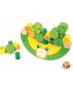 Jucărie din lemn Legler Balancing Frog