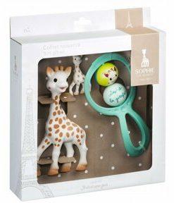Vulli - Set cadou Girafa Sophie cu zornaitoare Swing si breloc