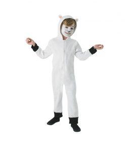 Costum pentru copii Oita, tip combinezon cu gluga si coada, 3 ani+, marimea S
