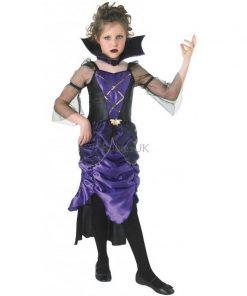 Costum de carnaval pentru copii Vampirita Noptii, 3 ani+