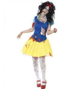 Costum zombie alba ca zapada halloween