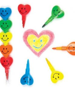 Creioane colorate Inimioare Baker Ross, 5 bucati, 3 ani+