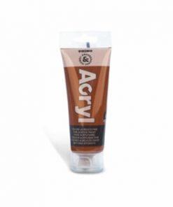 Tempera acrilica Morocolor Primo, 75 ml, caramiziu