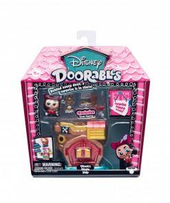 Mini set de constructie Capitanul Hook Doorables S1, 2 figurine, accesorii incluse