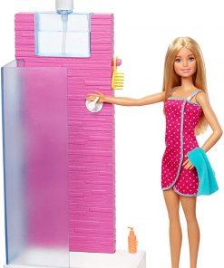 Set papusa Barbie si accesorii pentru dus, FXG51