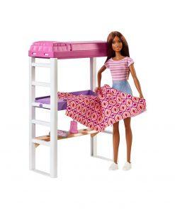 Set papusa Barbie si accesorii dormitor, FXG52
