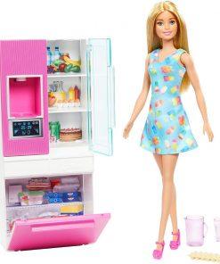 Set papusa Barbie si accesorii pentru frigider, GHL84